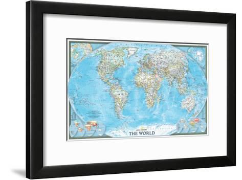 2004 World-National Geographic Maps-Framed Art Print