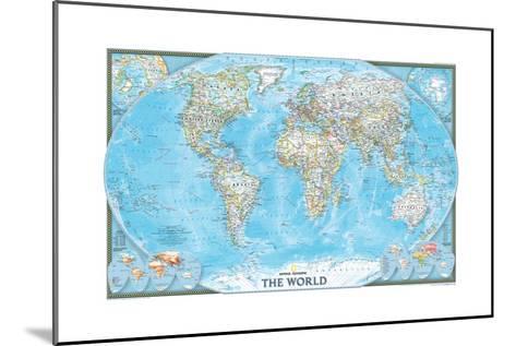 2004 World-National Geographic Maps-Mounted Art Print