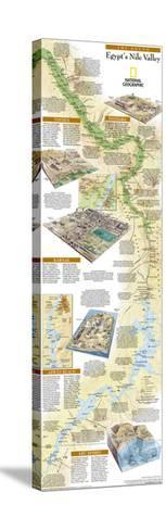 2005 Egypts Nile Valley South Map-National Geographic Maps-Stretched Canvas Print