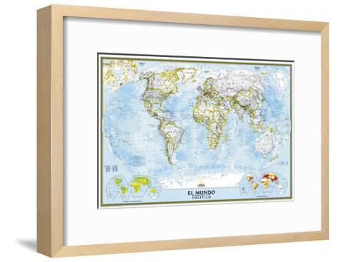 2005 World Classic Spanish Map-National Geographic Maps-Framed Art Print