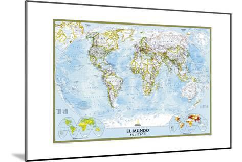 2005 World Classic Spanish Map-National Geographic Maps-Mounted Art Print
