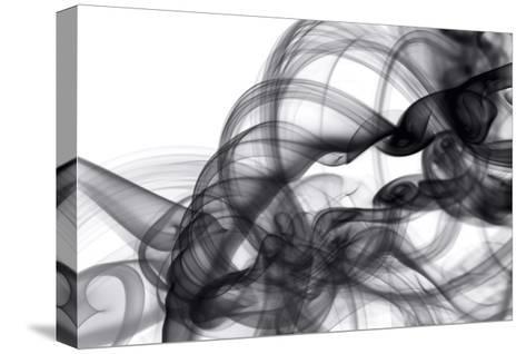White Smoke Abstract-GI ArtLab-Stretched Canvas Print