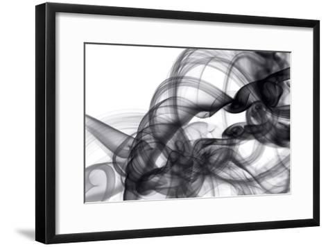 White Smoke Abstract-GI ArtLab-Framed Art Print