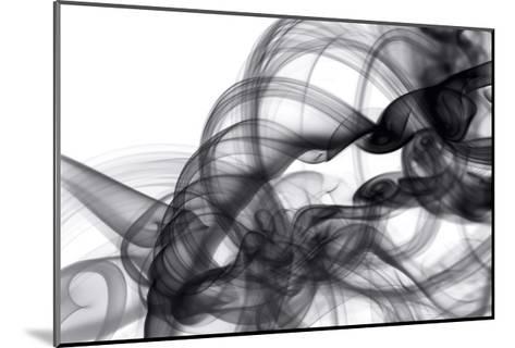 White Smoke Abstract-GI ArtLab-Mounted Premium Giclee Print