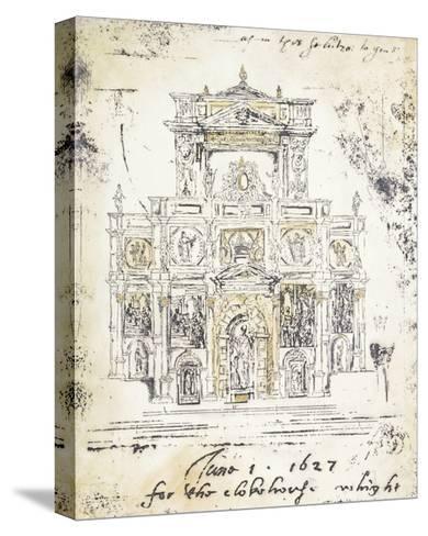 Classical Building 1-Elizabeth Jardine-Stretched Canvas Print