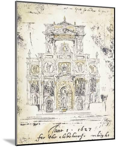 Classical Building 1-Elizabeth Jardine-Mounted Premium Giclee Print