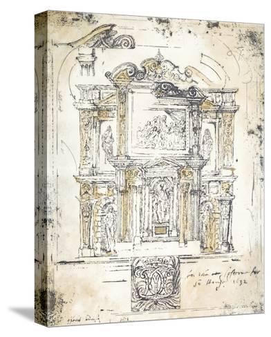Classical Building 2-Elizabeth Jardine-Stretched Canvas Print