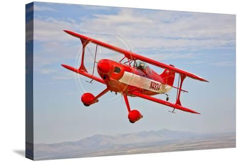 A Pitts Special S-2A Aerobatic Biplane in Flight Near Chandler, Arizona--Stretched Canvas Print