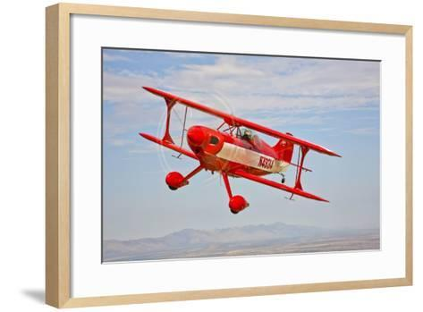A Pitts Special S-2A Aerobatic Biplane in Flight Near Chandler, Arizona--Framed Art Print