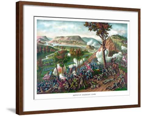 American Civil War Print Featuring the Battle of Missionary Ridge--Framed Art Print