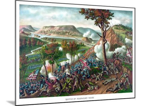 American Civil War Print Featuring the Battle of Missionary Ridge--Mounted Art Print