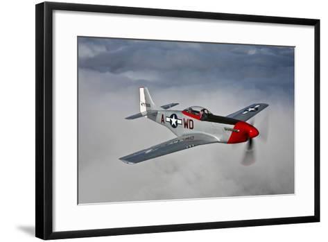 A P-51D Mustang in Flight Near Hollister, California--Framed Art Print