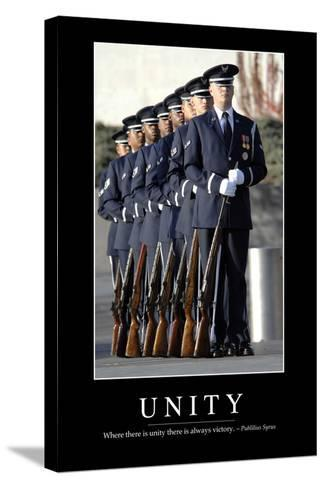 Unity: Inspirational Quote and Motivational Poster--Stretched Canvas Print