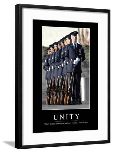 Unity: Inspirational Quote and Motivational Poster--Framed Art Print