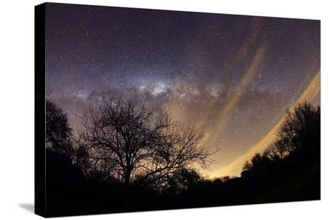 The Milky Way Behind a Rural Landscape, Mercedes, Argentina--Stretched Canvas Print