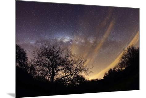 The Milky Way Behind a Rural Landscape, Mercedes, Argentina--Mounted Photographic Print
