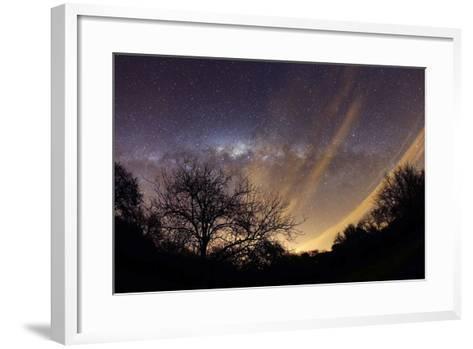 The Milky Way Behind a Rural Landscape, Mercedes, Argentina--Framed Art Print