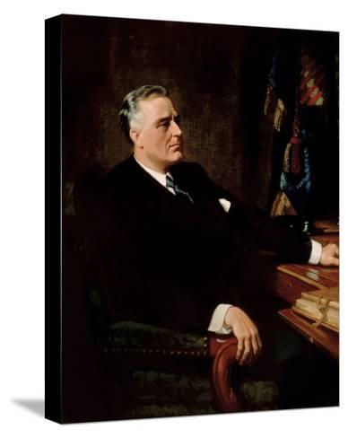 Digitally Restored American History Painting of President Franklin Roosevelt--Stretched Canvas Print