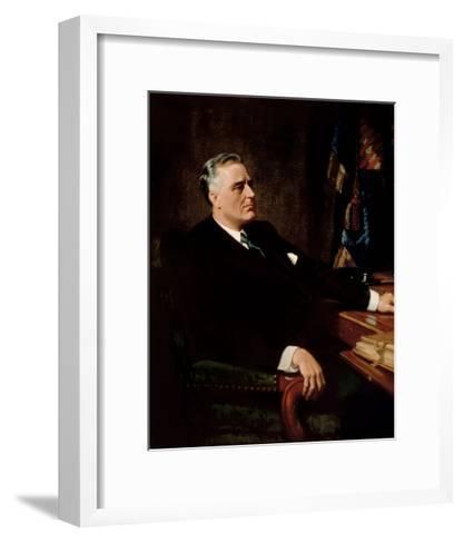 Digitally Restored American History Painting of President Franklin Roosevelt--Framed Art Print
