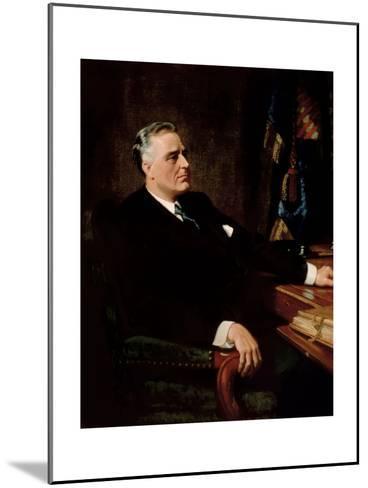 Digitally Restored American History Painting of President Franklin Roosevelt--Mounted Art Print