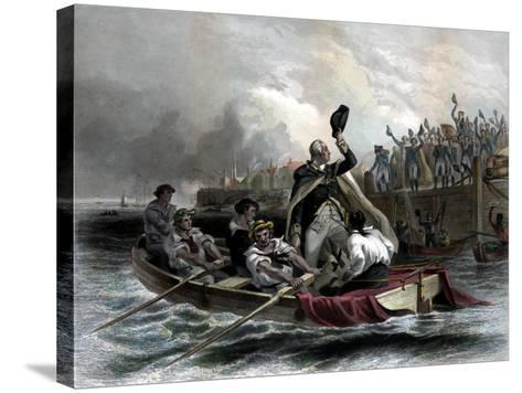 Digitally Restored American History Print of General George Washington--Stretched Canvas Print