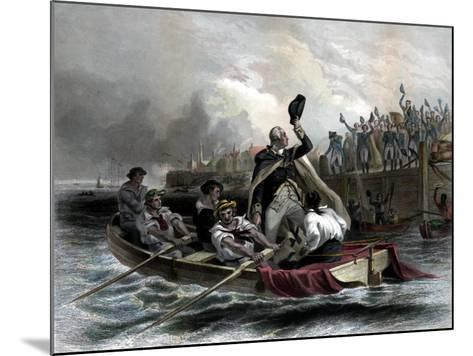 Digitally Restored American History Print of General George Washington--Mounted Art Print