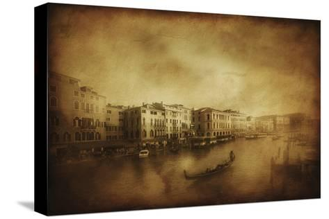 Vintage Shot of Grand Canal, Venice, Italy--Stretched Canvas Print