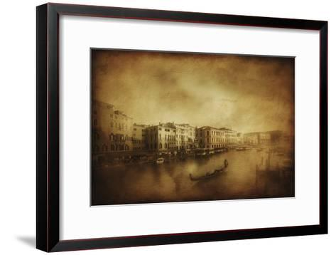 Vintage Shot of Grand Canal, Venice, Italy--Framed Art Print