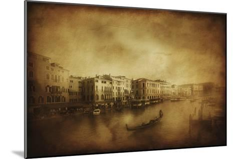 Vintage Shot of Grand Canal, Venice, Italy--Mounted Photographic Print