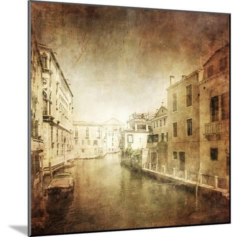 Vintage Photo of Venetian Canal, Venice, Italy--Mounted Photographic Print