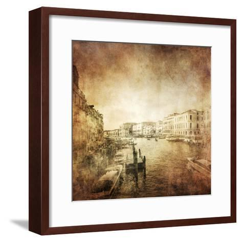 Vintage Photo of Grand Canal, Venice, Italy--Framed Art Print