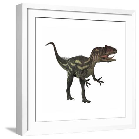 Allosaurus, a Prehistoric Era Dinosaur--Framed Art Print