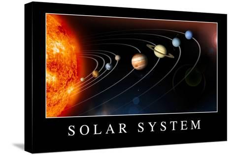 Solar System Poste--Stretched Canvas Print