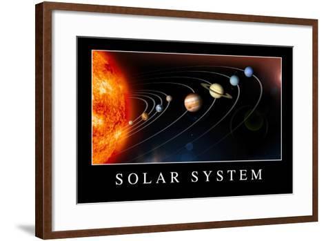Solar System Poste--Framed Art Print