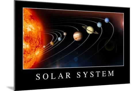 Solar System Poste--Mounted Art Print