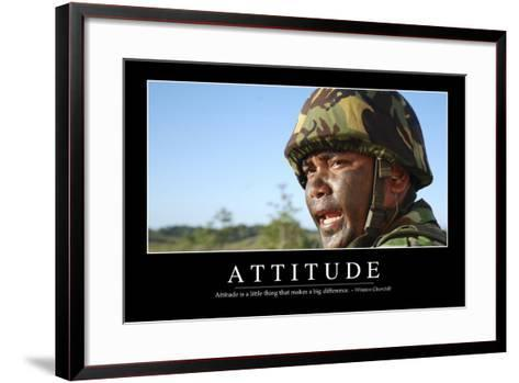 Attitude: Inspirational Quote and Motivational Poster--Framed Art Print