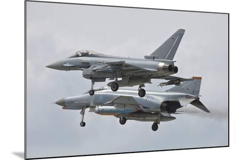 Eurofighter Typhoon and its Precedessor, the F-4F Phantom--Mounted Photographic Print