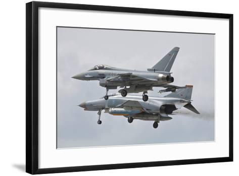 Eurofighter Typhoon and its Precedessor, the F-4F Phantom--Framed Art Print