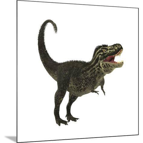 Tyrannosaurus Rex, a Large Predatory Beast of the Cretaceous Period--Mounted Art Print