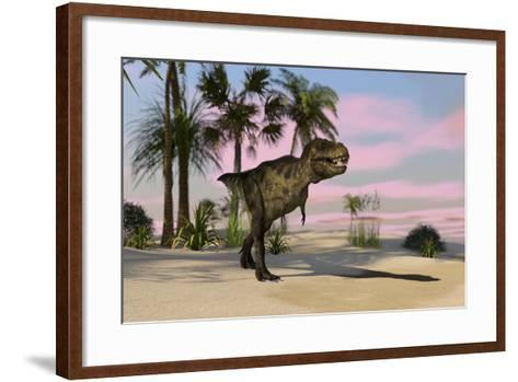 Tyrannosaurus Rex Hunting for its Next Meal--Framed Art Print
