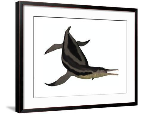 Dolichorhynchops, an Extinct Genus of Short-Neck Plesiosaur--Framed Art Print