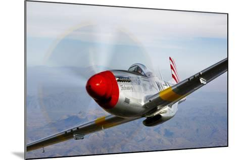 A P-51D Mustang in Flight Near Prescott, Arizona--Mounted Photographic Print