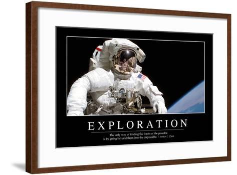 Exploration: Inspirational Quote and Motivational Poster--Framed Art Print