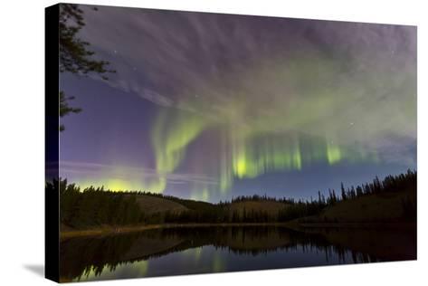 Aurora Borealis over Hidden Lake, Yukon, Canada--Stretched Canvas Print