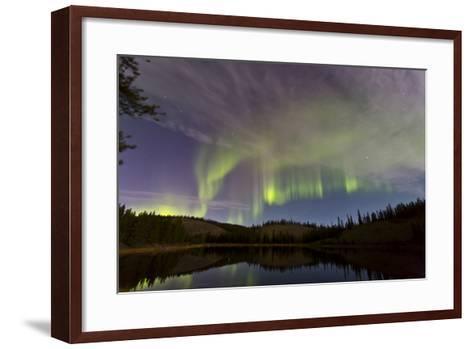Aurora Borealis over Hidden Lake, Yukon, Canada--Framed Art Print