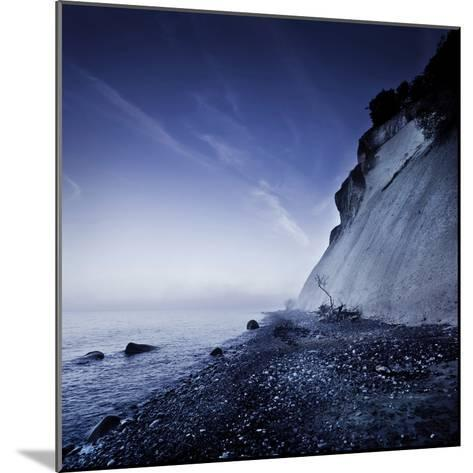 Seaside and Chalk Mountain in the Evening, Mons Klint Cliffs, Denmark--Mounted Photographic Print