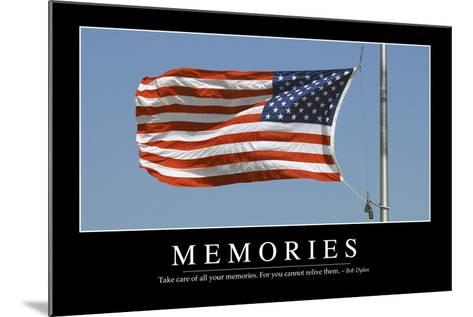 Memories: Inspirational Quote and Motivational Poster--Mounted Photographic Print