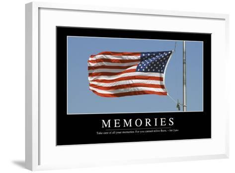 Memories: Inspirational Quote and Motivational Poster--Framed Art Print