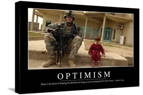 Optimism: Inspirational Quote and Motivational Poster--Stretched Canvas Print