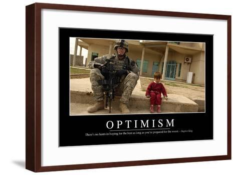 Optimism: Inspirational Quote and Motivational Poster--Framed Art Print
